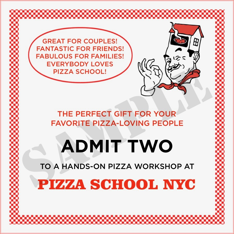 Pizza workshop for two pizza school nyc gift certificate template admit two 2 yelopaper Images